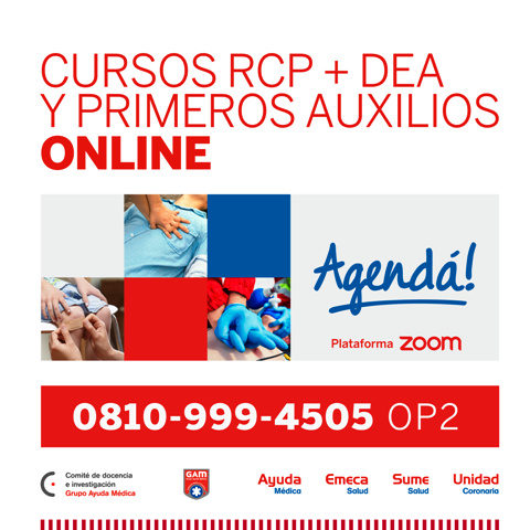 Cursos de RCP + Dea y Primeros Auxilios