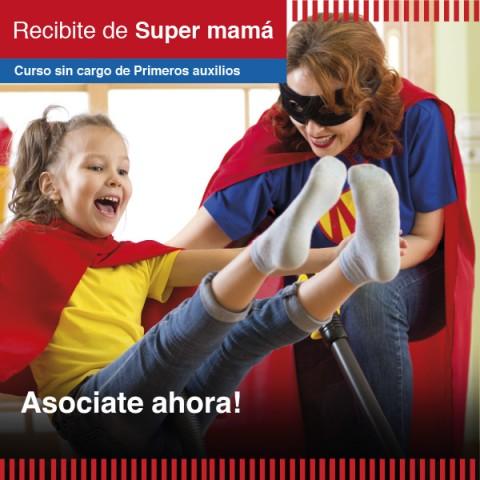 ¡Recibite de Super mamá!