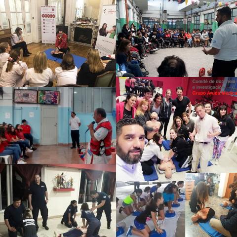 El Grupo Ayuda Médica celebró el mes de la Reanimación Cardiopulmonar capacitando a la comunidad.